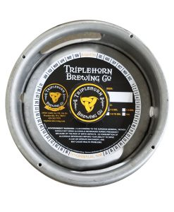 custom 2 color keg collar printed on tag stock no adhesive placed on a sixth barrel keg