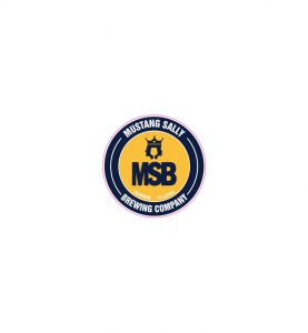 """Mustang Sally 4"""" round promotional sticker"""
