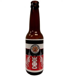 custom printed bottle label printed 4 color for Old Firehouse Brewery in Ohio