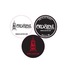 Old Stove Brewing Company promotional sticker set