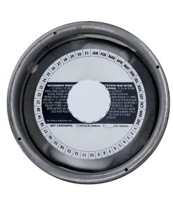 7 inch stock generic keg collar placed on a sixth barrel keg