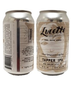 custom full color 12 oz. beer can labels printed digital for Lucette Brewing Co.