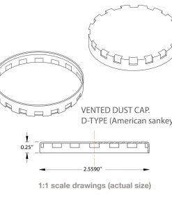 technical details on D type American Sankey vented keg caps