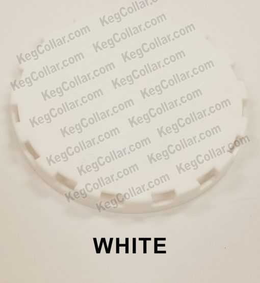 white vented keg cap sample image