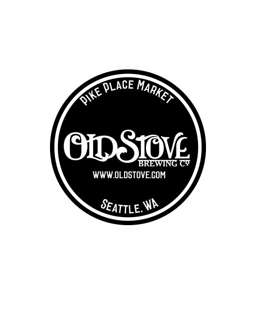 Old Stove Brewing Company 1 color promotional sticker