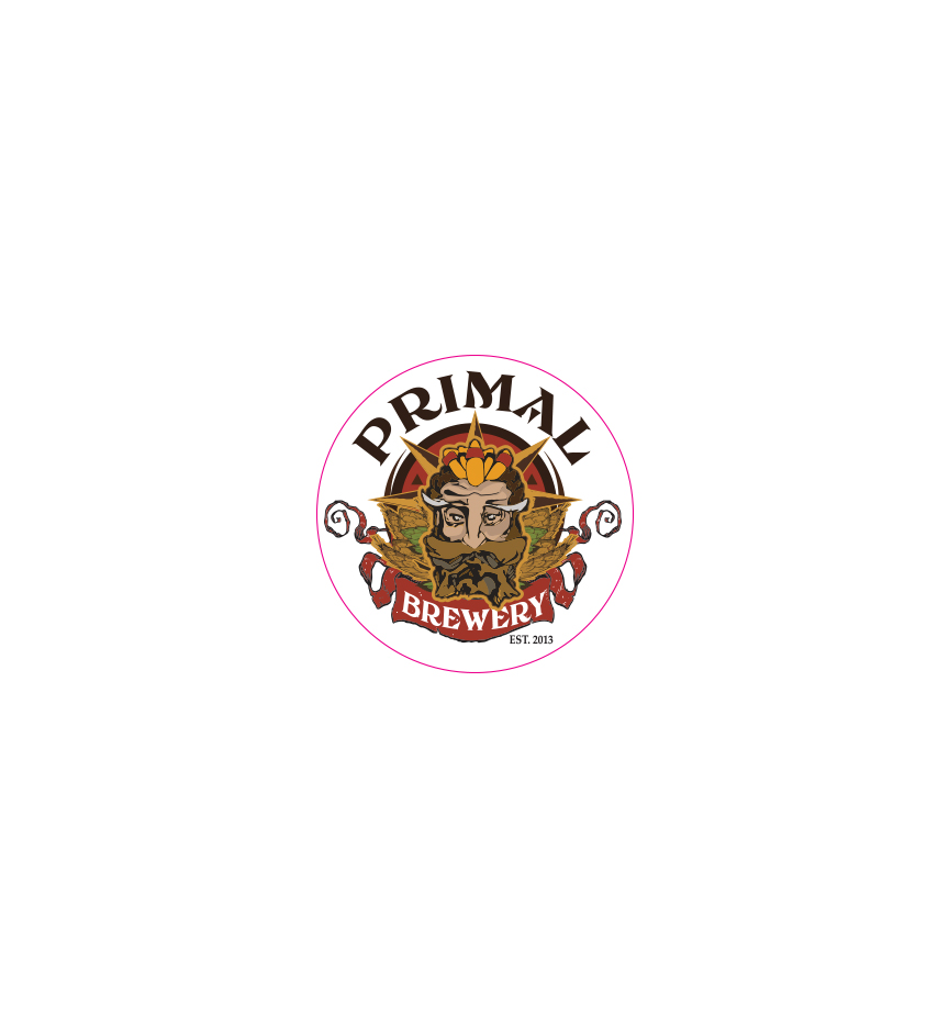 Primal Brewery Promotional Sticker with logo