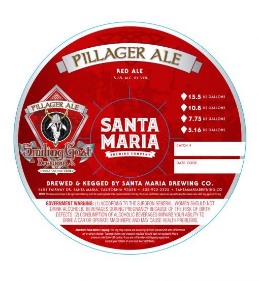 custom printed 4 color digital sample for Santa Maria Brewing Company