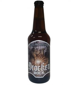 Brocken Boch 4 color bottle label placed on 20 oz. bottle for Bury Me Brewing