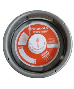 7 inch keg collar printed 1 color on tag stock, no adhesive and placed on sixth barrel keg