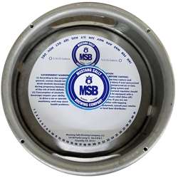 Custom Tag Stock Keg Collars with Adhesive
