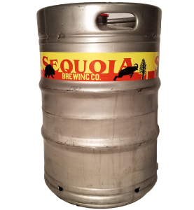 full color digital keg wrap printed for Sequoia Brewing wrapped around a 1/2 barrel keg