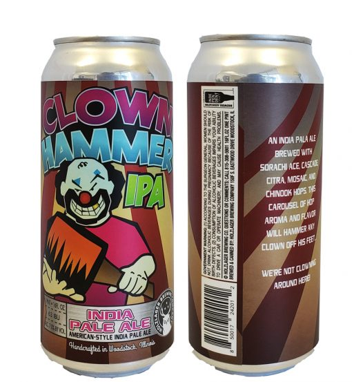 16 oz can label printed full color on 5 x 8.375 full wrap label die applied to 16 oz aluminum can