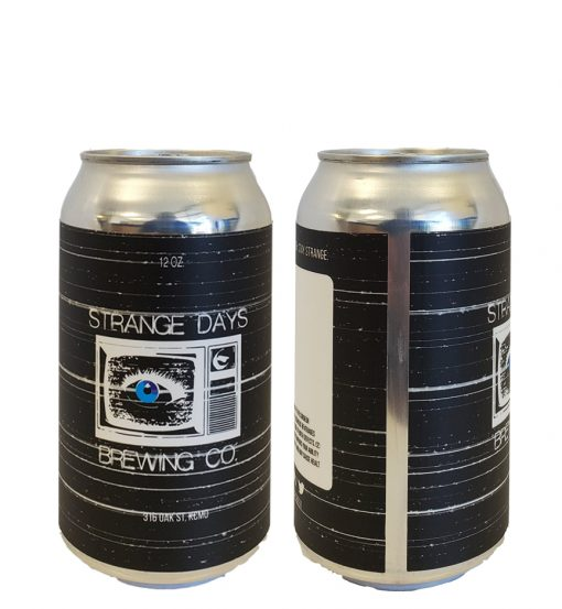 custom printed 12 oz can label applied to 12 oz can