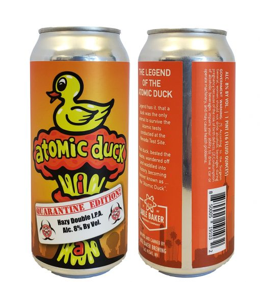 16 oz 5 x 8 label printed full color applied to 16 oz beer can