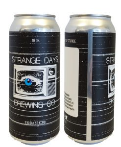 custom 5 x 8 16 oz can label printed full color and applied to 16 oz aluminum beer can