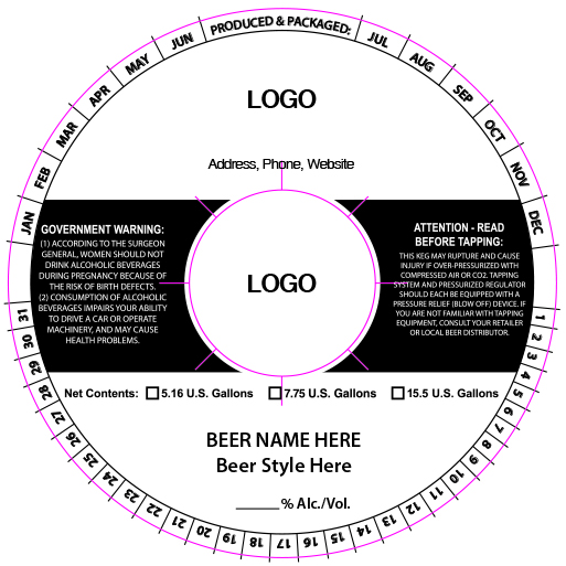 custom keg collar background template 11