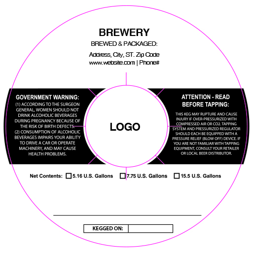 custom keg collar background template 13