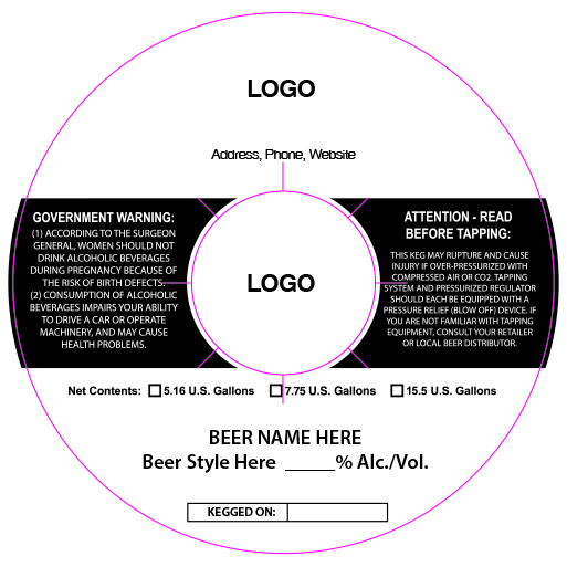 custom keg collar background template 15