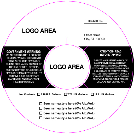 custom keg collar background template 16